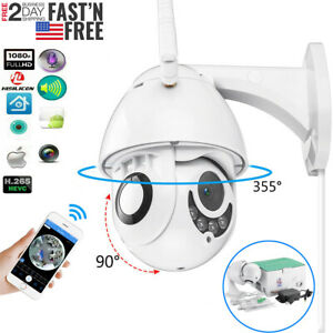 360° CCTV IR Camera Waterproof Outdoor WiFi 1080P HD Home Security Wireless IP