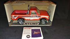 VTG.NYLINT RED FORD 4X4  MOTORCRAFT PICKUP TRUCK  IN BOX 1982 W/ CATALOG  STEEL