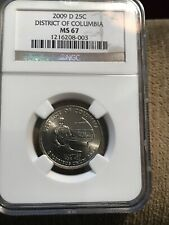 2009 D District Of Columbia Quarter NGC MS67 Business Strike