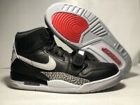 Nike Air Jordan Legacy 312 Black Cement Basketball Shoes AV3922-001 Mens SZ 10.5