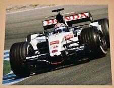 New listing Tony Kanaan 8x10 Photo 2005 Honda F1 BAR 007 Formula 1 Jerez Test, IRL Indy Car