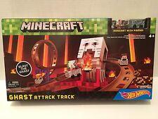 NEW Minecraft Hot Wheels Minecart Pigman Figure Moving Ghast Mojang Track Blocks