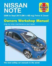 6411 Haynes Nissan Note Petrol & Diesel (2006 - Sept 2013) Workshop Manual