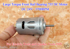 DC 24V 3700RPM Large Torque Ball Bearing RS-755 DC Motor Electric Drill Tools