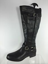 Naturalizer Womens Black Leather Knee Boots 7 M