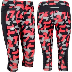 PUMA 3/4 Tight Girl Compression Trousers Sports Leggings Running Girl Black/Red