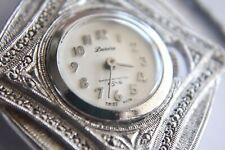 Vintage Desire Mechanical Swiss Marcasite Necklace Watch