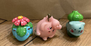Pokemon 1999 Burger King Toy Lot of 3 Clefairy Venusaur Bulbasaur