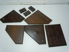 Mixed lot of trophy bases, various sizes, wood like finish. used. 8 pc's