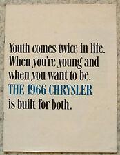 CHRYSLER USA Car Sales Brochure 1966 #81-005-6034 NEWPORT 300 New Yorker +