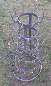 BEAUTIFUL FRENCH ANTIQUE BOTTLE DRYING RACK MARCEL DUCHAMP COTTAGE