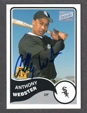 2003 BAZOOKA #172  Anthony Webster  CHICAGO WHITE SOX  SIGNED AUTOGRAPH AUTO COA