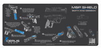 for Smith & Wesson M&P Shield Instruction Handgun Pistol Cleaning Mat Grey Blue