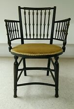 Arts and crafts ebonised spindle chair william morris?