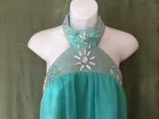 Women's Tunic Top / Dress, 10, The Vestry, Chiffon, Beaded, Green