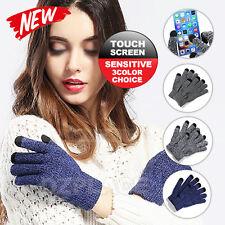 Warm Touch Screen Soft Wool Winter Gloves Women Men Warmer Mobile Phone