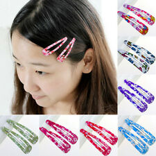 10Pcs/Sets Hair Clips Snaps Hairpin Girls Baby Kids Hair Bow Accessories Gift