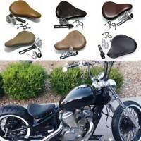 Black Motorcycle Solo Seat Spring Soft Saddle For Yamaha XVS 1100 650 400 Bobber