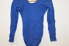 Danskin Gymnastics LARGE Adult Leotard Blue with pants