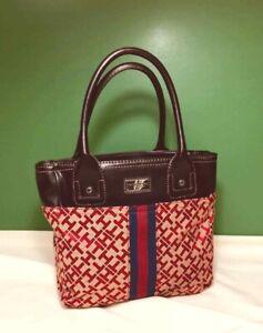 Vintage TOMMY HILFIGER Purse Handbag RED LOGO Pattern  NEW w TAGS