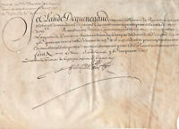 1647 Louis XIV lord manuscript parchment letter military order piemond army