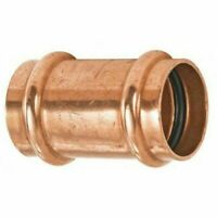 "NIBCO PRESS Coupling 1-1/4"" Viega Propress style - Wrot Copper, W/stop"