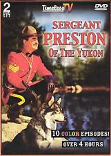 SERGEANT PRESTON OF THE YUKON (DVD, 2008, 2-Disc Set)10 Color Episodes BRAND NEW