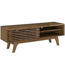 "Render 48"" TV Stand, Walnut - mid Century Modern Design  FREE SHIPPING IN USA"
