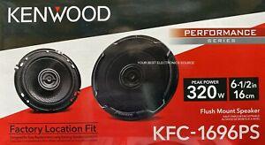 "NEW Kenwood KFC-1696PS 6.5"" 2-Way Coaxial Car Audio Speakers (PAIR) 6-1/2"""
