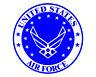 "USAF Emblem US Air Force Seal 5"" Vinyl Military Decal Sticker for Cars Trucks..."