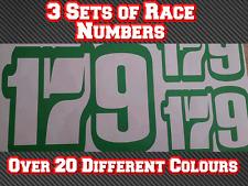 3 Sets Go Kart Race Numbers Vinyl Sticker Decals Trials Dirt Bike D4 TKM