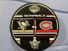 2010 Stanley Cup Playoffs Dueling Puck Pittsburgh Penguins / Montreal Canadiens