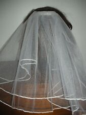 """First Communion Flower Girl Veil attached  to comb 15"""" length White or Ivory"""