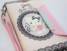 For Samsung Galaxy SIII S3 - PINK HELLO KITTY LEATHER WALLET POUCH CASE COVER