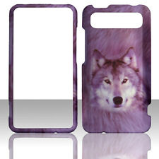 Snow Wolf HTC Holiday , Raider 4G X710e, LTE 4G, Vivid  Case Cover Hard