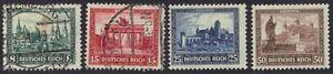 GERMANY 1930 Sc B33 a, b, c, d Mi. #446-449 2 USED 2 MINT THE 50pf IS NH THE 8pf