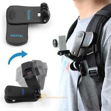 360° Rotation Backpack Belt Clip Clamp Mount for Gopro Hero 5 6 Yi Action Camera
