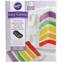 Wilton 2105-0112 - Easy Layers! Cake Tin Set, Non-Stick, 15.2cm (6in), 5 piece