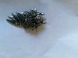 St Justin Pewter Gothic Brooch