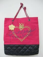 NWT PRINCESS VERA WANG PRINCESS CANVAS LOGO TOTE BAG PURSE $69 FLIRTY PINK SALE