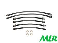 BMW 3 SERIES 325i E30 STAINLESS STEEL BRAIDED BRAKE LINES HOSES PIPES KIT OU