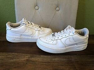 Womens Nike Air Force 1 White Leather Trainers - Size UK 4 - EU 36.5