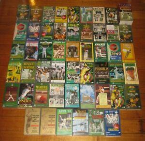 72 x Cricket Videos - Sports - Collection - Classics - PAL - VGC - VHS - Lot
