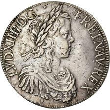 [#861410] Monnaie, France, Louis XIV, Écu à la mèche longue, Ecu, 1647, Toulouse