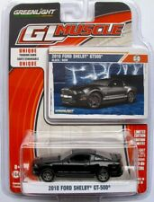 2010 Ford Mustang Shelby GT-500  schwarz  /  Greenlight 1:64