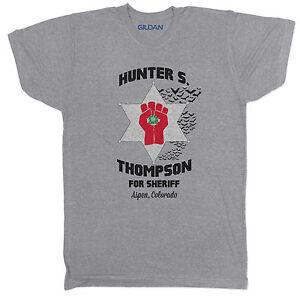 Hunter S Thompson Fear and Loathing Las Vegas Gonzo Brazil Tumblr Grey T Shirt