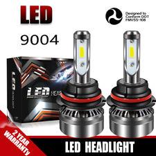 2-Side 9004 HB1 LED Headlight Bulbs 60W 12000LM White 6000K Hi-Low Beam