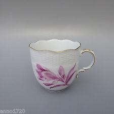 Ludwigsburg Flecht- Korbrand Blumen purpur Kaffeetasse 1tlg (D)