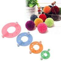 New 8Pcs 4 Sizes Essential Pompom Maker Fluff Ball Weaver Needle Knitting Tool