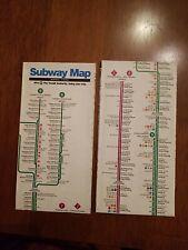 Vintage April 1993 NYC New York City Subway Map MTA  Guide NYCTA